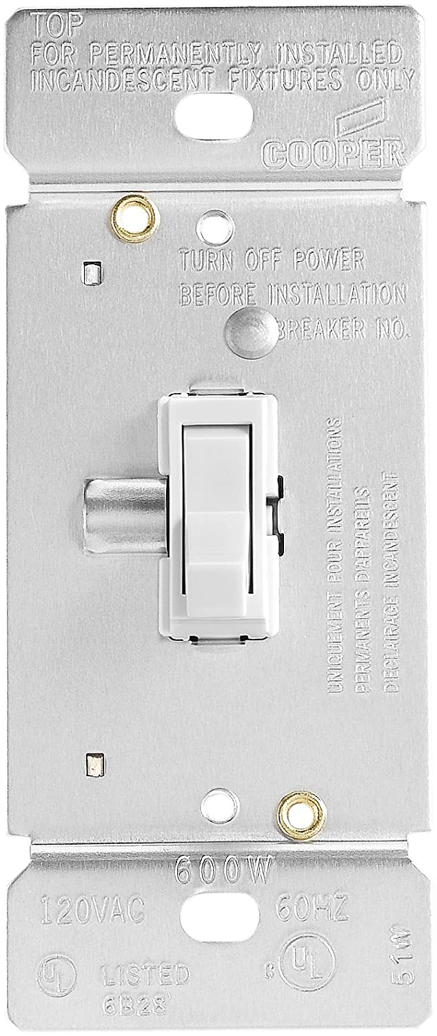 Eaton TI061-W Trace Dimmer with Combination Single-Pole 3-Way Unit ...