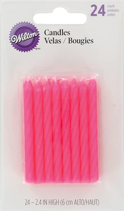 Amazon Wilton Birthday Candles 25 Inch Pink 24 Pack Home