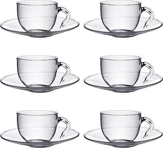 Argon Tableware Juego de Tazas para Espresso y platillos ...