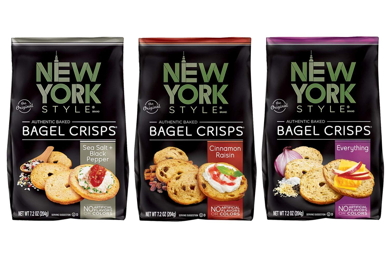 New York Style Bagel Crisps Pack of 3 (Sea Salt & Cracked Pepper + Garlic Parmesan + Everything)