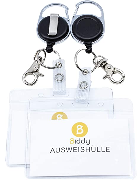 c38fc15b0106 2 porta-badge, portachiavi Jojo, linguetta robusta, cordino antistrappo,  per chiavi