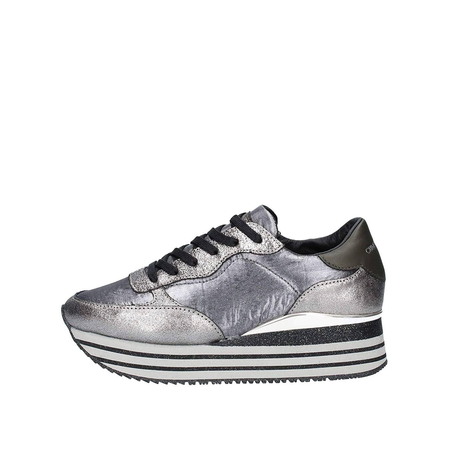CRIME London Damen Glitter dynamische Trainer Grafite