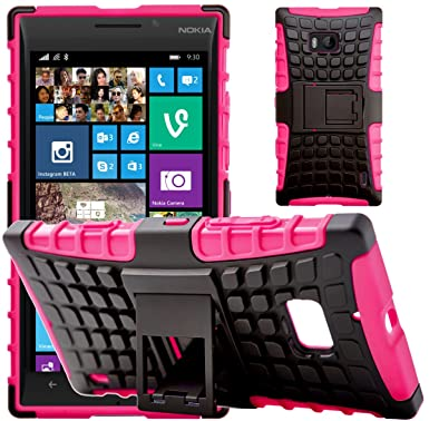 new style 90a93 b65e5 G-Shield Case for Nokia Lumia 930, Shock Absorption Cover with Kickstand,  Hot Pink