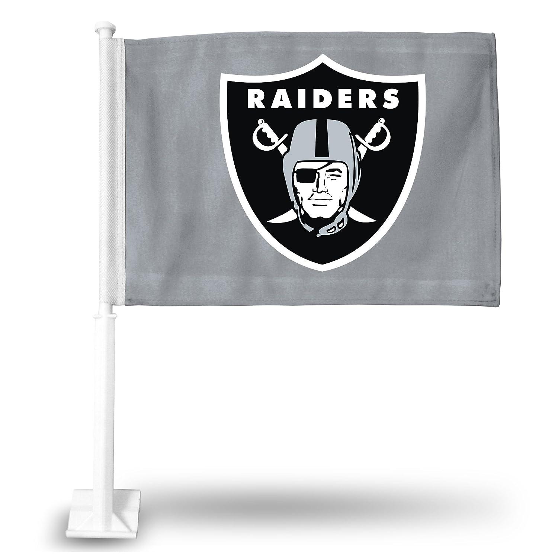 NFL Oakland Raiders Shield onグレー背景車フラグ   B001PR0M96, summer.s e5170889