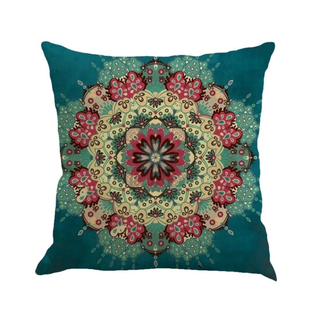 """A Ronamick Geometry Painting Linen Cushion Cover Throw Pillow Case Sofa Home Decor Cute Chair Cushion Cover 45cm*45cm//18 18/"""""""