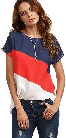 Damen lässige T-Shirt Übergröße bluse-oberteile Locker kurzärmlig groß Oberteile