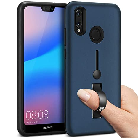BEZ Funda Huawei P20 Lite - Finger Strap Ring Holder Cover for Huawei P20 Lite,