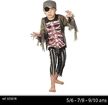 urban living disfraz de pirata esqueleto para niño, niña, 555618 ...