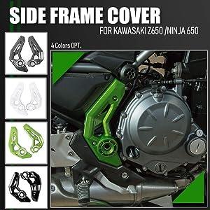 Lorababer Motorcycle Z 650 Z-650 Left Right Durable Frame Side Cover Fairing Panel Trim Bodywork Guard Protector for Kawasaki Ninja 650 Z650 2017 2018 2019 2020 Accessories (Carbon Fiber Look)