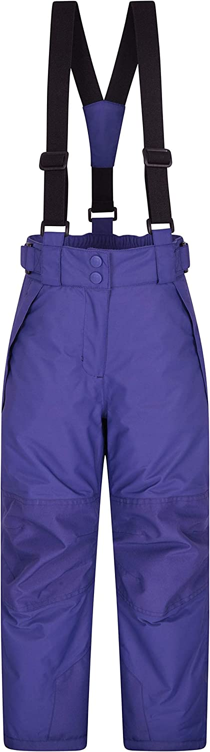 Mountain Warehouse Pull Up Kids Jersey Lined Pants Casual Bottoms