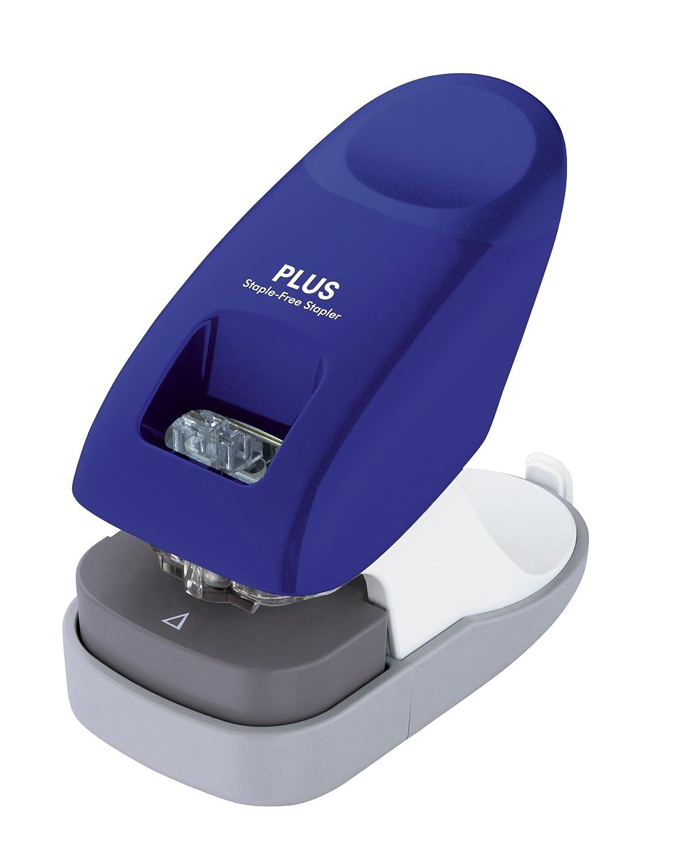 PLUS Japan Cucitrice senza punti da scrivania, pinza fino a 10 pagine senza punti, Paper Clinch, rosa Plus Europe GmbH SL-112A-EU PK