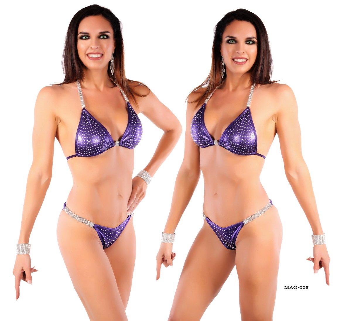 Elegantfitt Competition Bikini Suit with Imitation Swarvoski Crystals