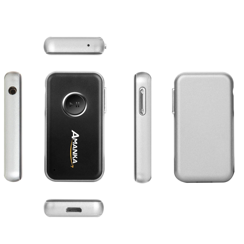 Altavoz Auriculares AMANKA Receptor Bluetooth 4.1 Audio Adaptador Inal/ámbrico,A2DP Streambot Manos Libres,Coche con Salida Est/éreo AUX de 3,5 mm para Audio de Coche