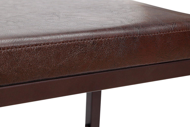 GEREXPRESS 2-Fach Schuhablage Schuhregal mit integrierter Sitzbank Schuhbank bezogen mit Kunstleder