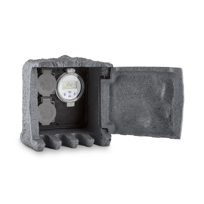 DURAMAXX Digital Rock Toma de corriente tierra con protección de contacto para