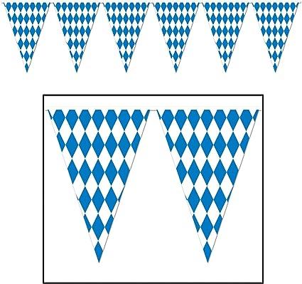 Oktoberfest Bavaria Flag Bunting 3m 6m 9m Metre Length 10 20 30 Flags