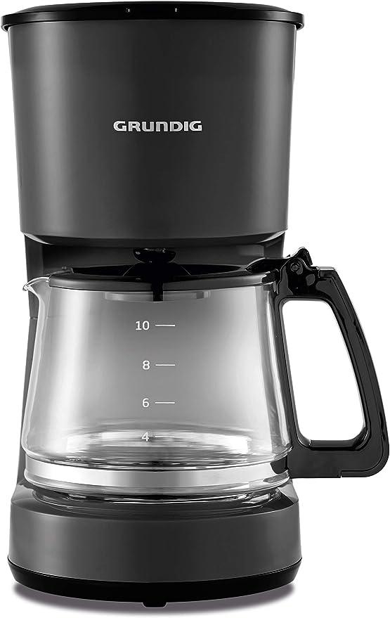 Grundig KM4620 - Cafetera (900 W, 10 tazas (1,25 l), 1000 ...