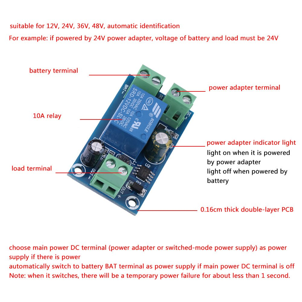 Dc 12v 24v 36v 48v 10a Power Supply Battery Charging Pwm Solar Charge Controller 12v24v Automatic Art Of Circuits Module Emergency Switch Garden Outdoor