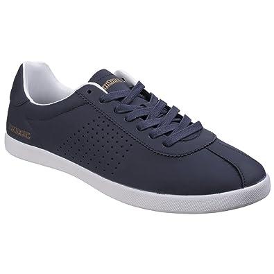 Lambreta Aston Mens Black Casual Lace Up Sporty Memory Foam Trainers Shoes