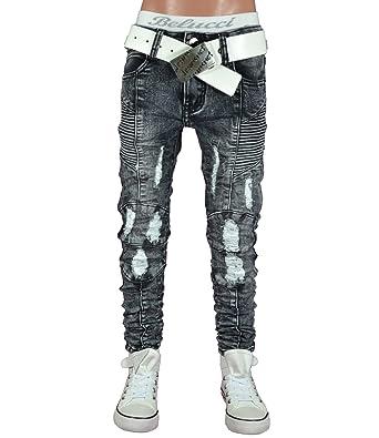 hübsch und bunt hohe Qualitätsgarantie Talsohle Preis JT-002 Squared & Cubed Jeans Hose Junge Kinder Dark Grey 122-170
