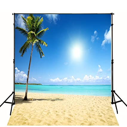 Amazon Com 10x10 Ft Tropical Beach Backdrop Wedding Photography