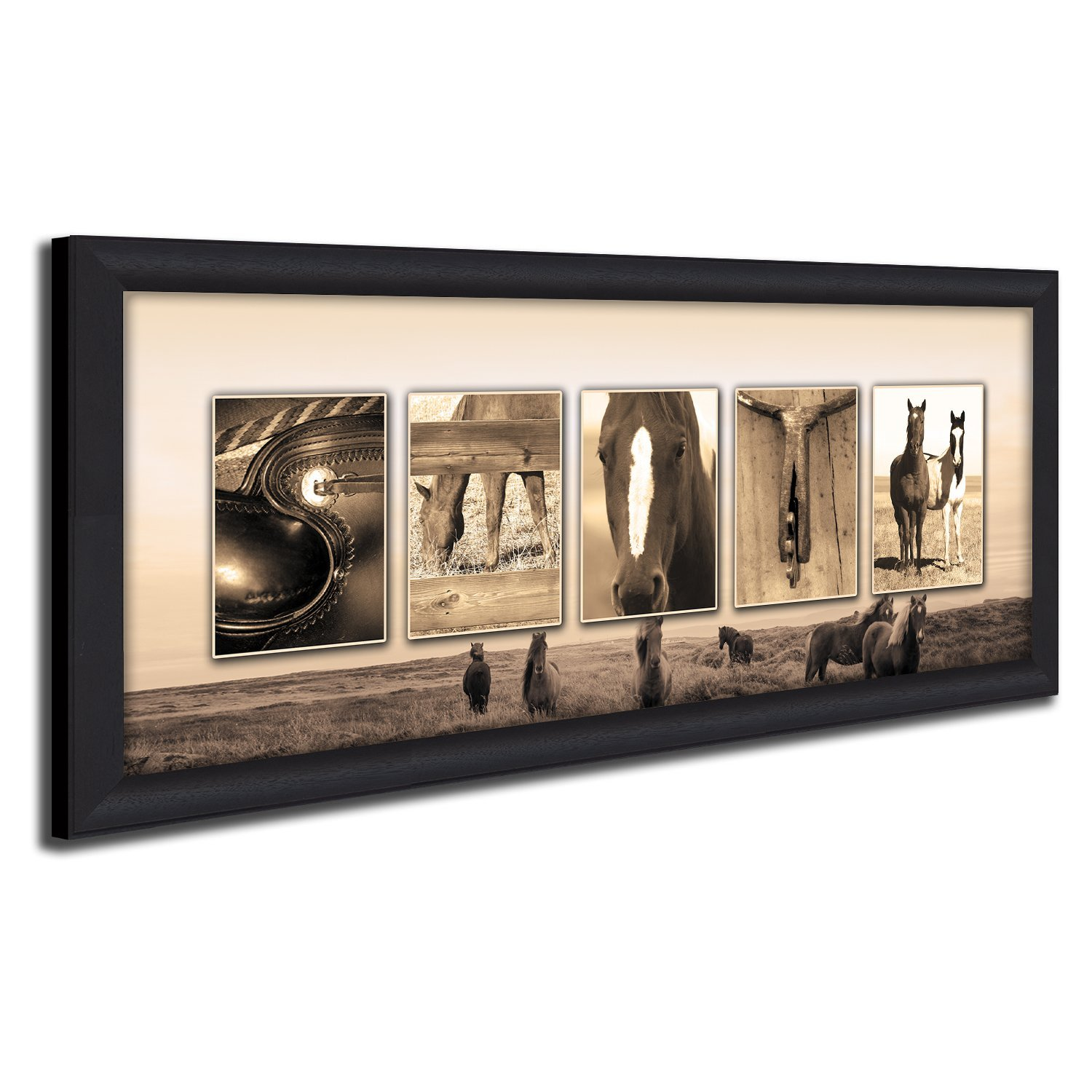 Personalized Western, Country, Equestrian, Horse Name Art Print. (Framed Canvas - 13.5 x 32.5)