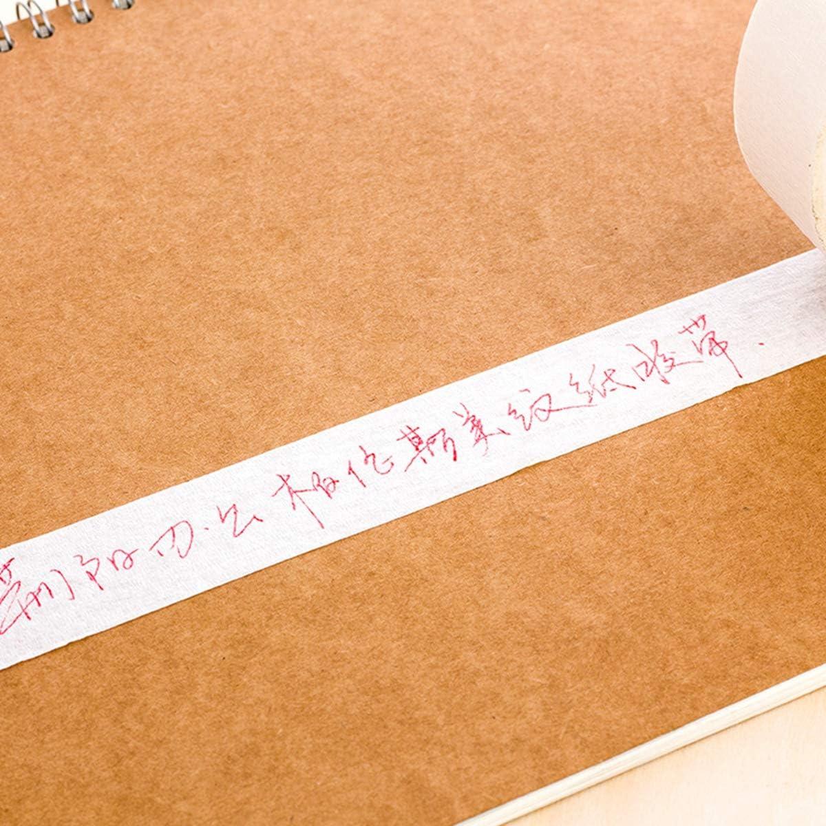 Barley33 6//12//24//48//60 mm Cinta de enmascarar Que se Puede Escribir Rollos de Cinta Adhesiva de un Solo Lado f/ácil de Usar Papel crep/é Autoadhesivo