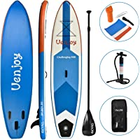 "Uenjoy Inflatable Stand Up Paddle Board (30"" Width 6"" Thick) Non-Slip Deck Adjustable Paddle, Backpack, Pump, Repairing kit"
