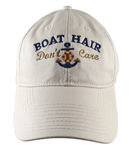 6bad2bf88a0b2 Amazon.com  Nautical Anchor Boat Hair Don t Care Embroidery on an ...