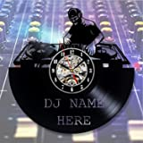 Dj Mixer Vinyl Record Wall Clock - Decorate your home with Modern Music Art - Best gift for man, woman, boyfriend and girlfriend - Win a prize for feedback