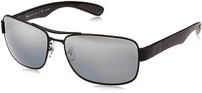8662faa82c Ray-Ban Men s Steel Man Sunglass Polarized Rectangular