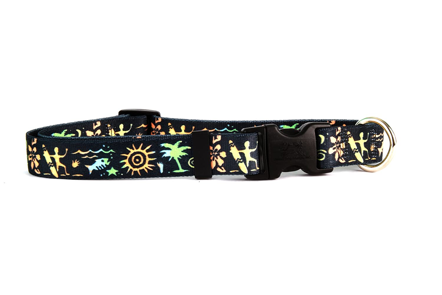 L Primitive Surfer Dog Collar Size Large 18  to 28  Long Made in The USA