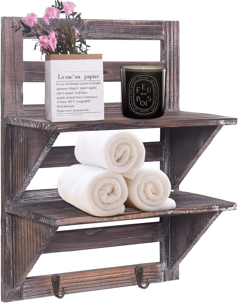 Rustic Shelves Bathroom Shelf Over Toilet Floating Shelves ...