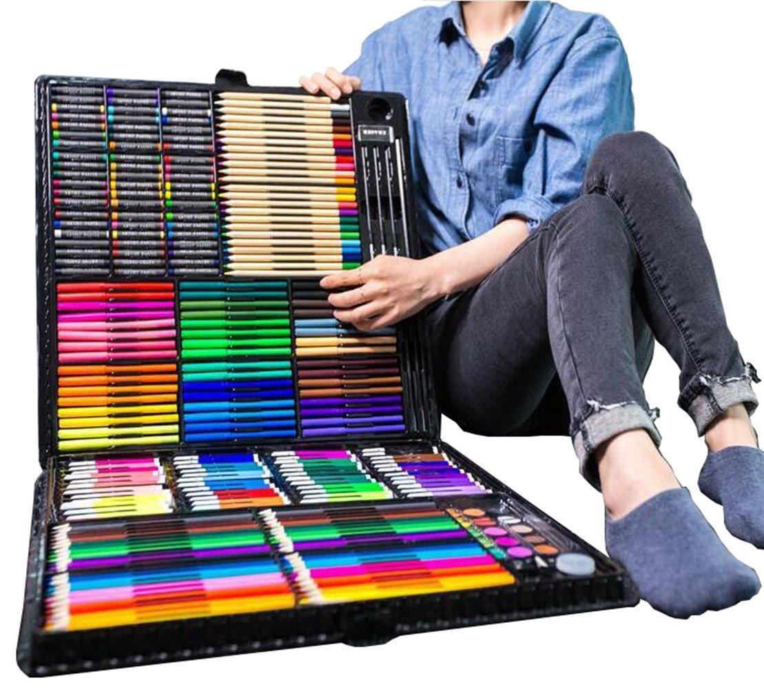 258 Pieces of Children's Paintbrush Suit, Watercolor, Pen, Art, Art Painting Toolbox, Children's Painting Pen Box