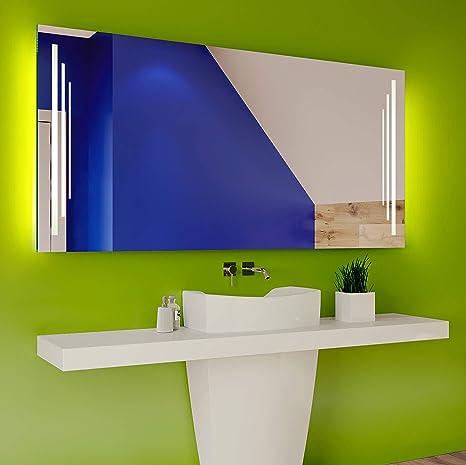 Badspiegel 120x80cm mit LED Beleuchtung - Wählen Sie Zubehör ...