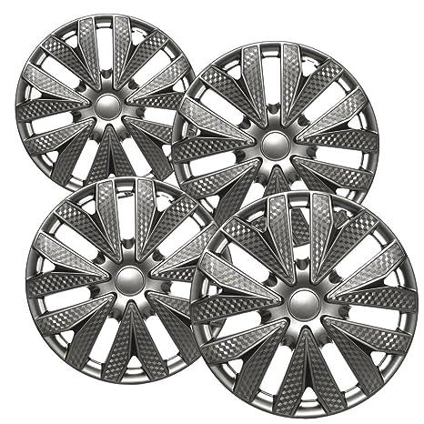 Tapacubos para Nissan Versa/cubo (Pack de 4, 6 radios de rueda cubre