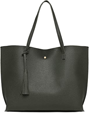 Ladies Large Shoulder Tote Bags Fashion Handbag Faux Leather Work Shopping Party