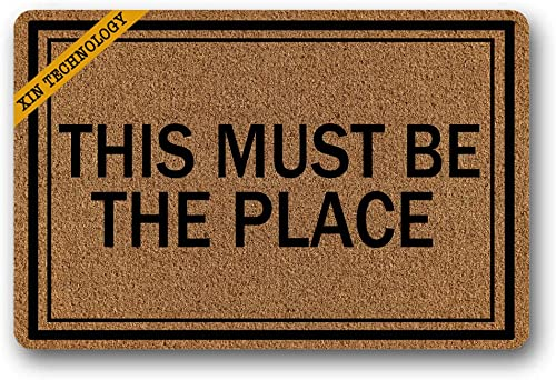 Artsbaba Doormat This Must Be The Place Door Mat Rubber Non-Slip Entrance Rug Floor Door Mat Funny Home Decor Indoor Mats 23.6 x 15.7 Inches