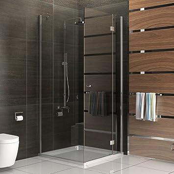 Duschkabine rahmenlos Duschabtrennung aus Sicherheitsglas Dusche ... | {Duschkabine komplett 35}