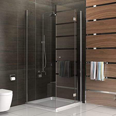 Frameless Shower Cubicle Shower Enclosure In Safety Glass Hinged