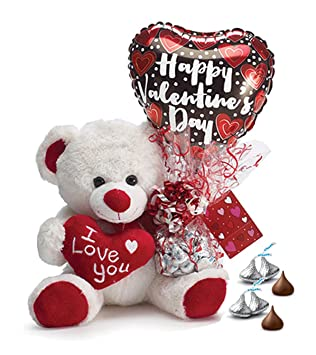 Amazon Com Valentine S Day Teddy Bear With Hershey S Chocolate