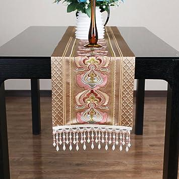Estilo chino Imitación de seda Bandera de la mesa Tejido de base seleccionado Decoración de tela ...