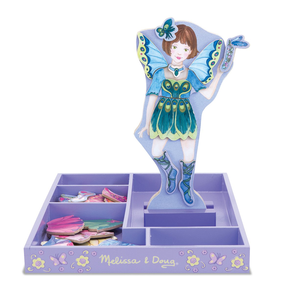 Melissa & Doug Petal Fairy Wooden Dress-Up Doll and Stand - 54 Magnetic Accessories by Melissa & Doug