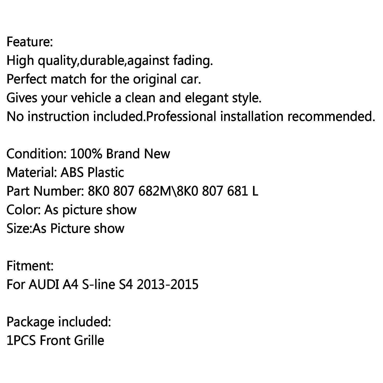 Left Replacement Grille Front Fog Light Grilles for A-U-D-I A4 S-line S4 2013-2014 2015 Artudatech Car Front Grill