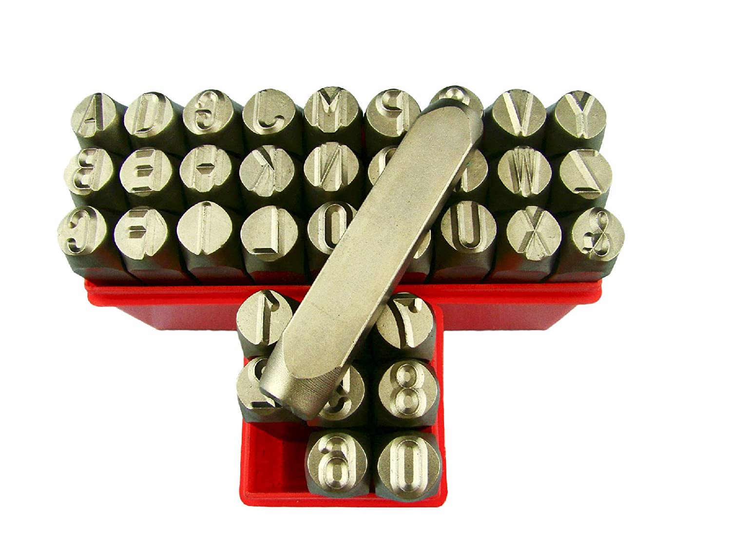 3//8 10MM Letter /& Number Punch Stamp Set Metal-Steel-Hand A-ZBIG SIZE 36Pcs