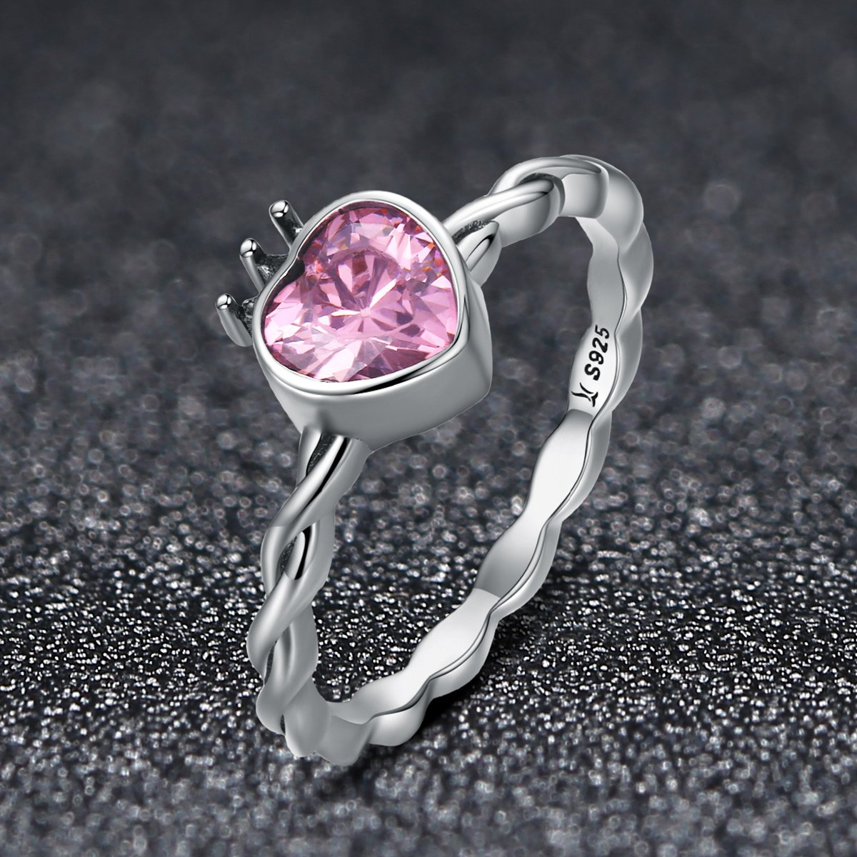 frosted multiple choice hearts Classic 925 Sterling Silver wedding band ring