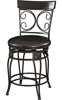 Amazon Com Powell Company Big And Tall Copper Stamped Back Barstool