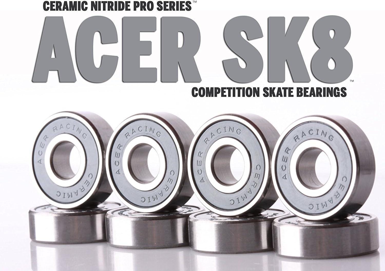Amazon Com Skateboard Wheel Truck Titanium Hardware By Acer Racing Ceramic Skateboard Bearings Skateboard Bearings Sports Outdoors