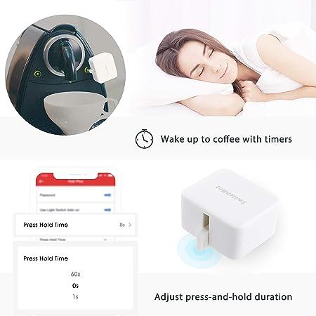 SwitchBot, enciende y apaga mecánicamente cualquier interruptor y botón de encendido, temporizador programable, controlado por aplicación (negro): ...