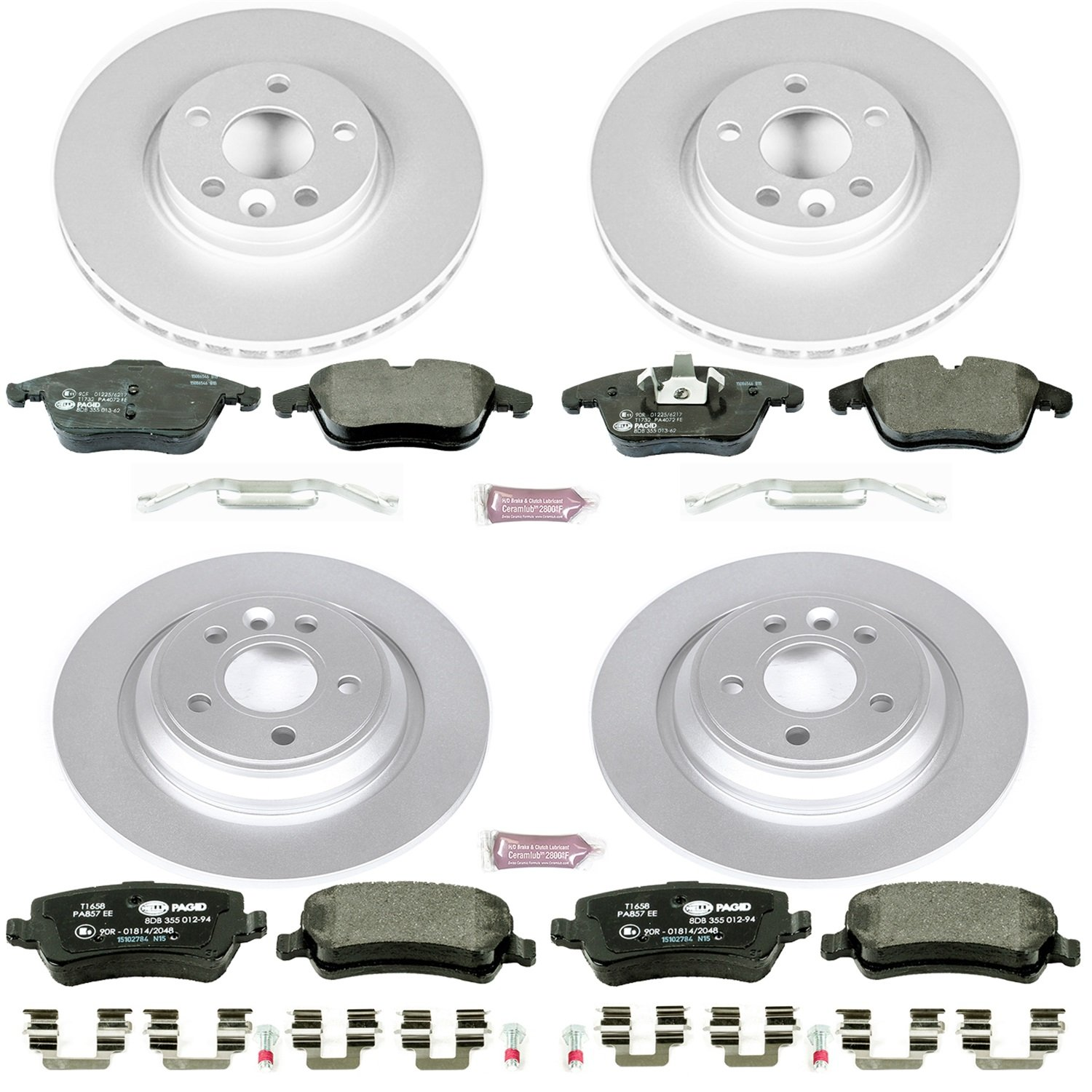Power Stop ESK5611 Front and Rear Euro-Stop Brake Kit